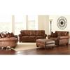 Silverado Loveseat & Sofa Set Caramel Brown Leather