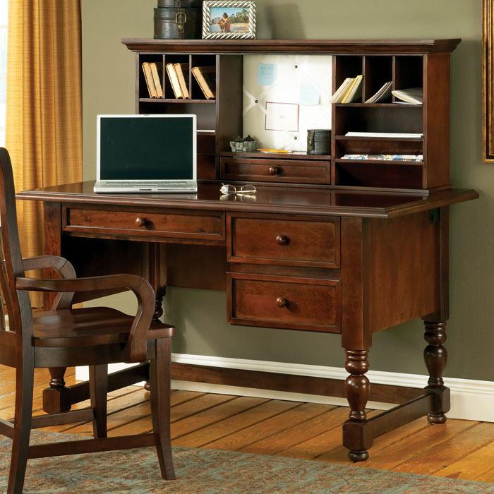 Bella Cherry Desk With Hutch And Keyboard Tray Ssc Bl800dc N Bl800hc