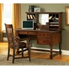 Bella Cherry Desk With Hutch And Keyboard Tray Dcg Stores