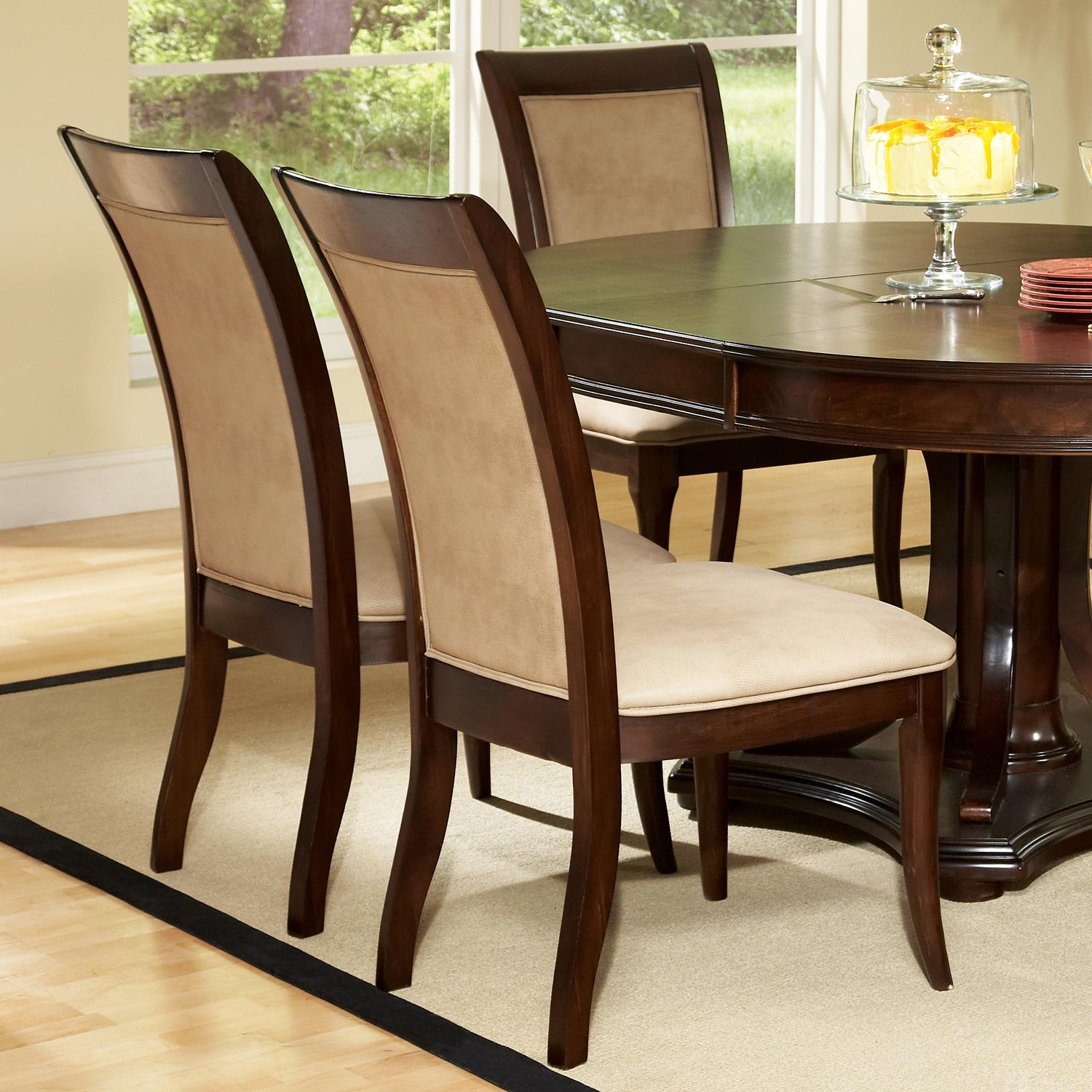 Marseille 7 Piece Dining Set Oval Extension Table Cream