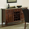 Montibello 7 Piece Dining Set with Chocolate Brown Chairs - SSC-MN450-7PC