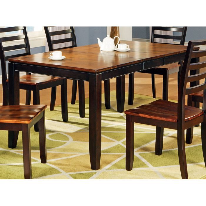 Abaco Two Toned Dining Table With Erfly Leaf Ssc Ab300t