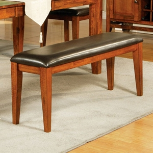 Mango Chocolate Upholstered Seat Bench