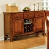 Mango 8 Piece Light Oak Counter Set with Bench - SSC-GO900-8PC