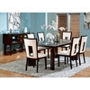 Very Delano 7 Piece Contemporary Dining Set in Espresso | DCG Stores LH96