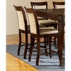 Marseille Counter Chair - Dark Cherry, Cream Seat & Back - SSC-MS900CC