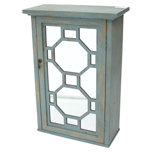 Wood Cabinet - Mirrored Door