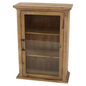 Wooden Cabinet - 1 Door, 3 Shelves
