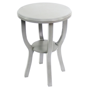 Wooden Stool - Gray