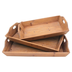 3-Piece Wood Tray