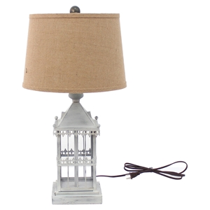 "25.75""H Table Lamp - Brown Shade"