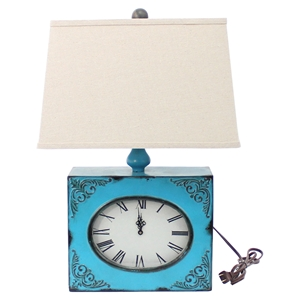 Clock Table Lamp - Blue (Set of 2)