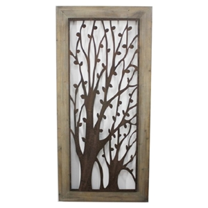 Metal and Wood Wall Plaque