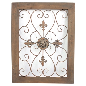 "36""H Metal and Wood Wall Decor (Set of 4)"