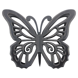 Wood Butterfly Wall Decor - Black (Set of 2)