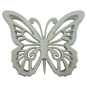 Wood Butterfly Wall Decor - Gray (Set of 2)