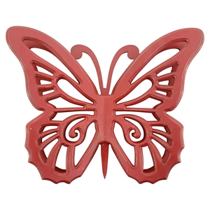 Wood Butterfly Wall Decor - Red (Set of 2)