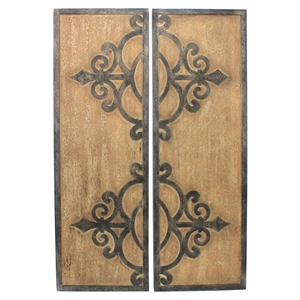 2-Piece Wood Wall Plaque