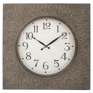 Wall Clock - Metal Frame, Square (Set of 4)