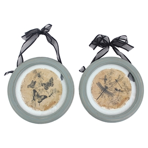2-Piece Plate Wall Decor (Set of 4)