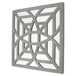 Square Gray Mirror Wall Decor (Set of 2)