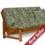 Arden Wood Futon Frame Set - Armless, Designer Cover
