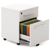 Pearl Office White Lacquer Mobile Pedestal - UNIQ-502-WH