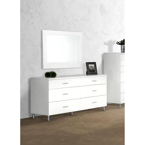 Modrest Bravo Modern Dresser - 6 Drawers, White | DCG Stores