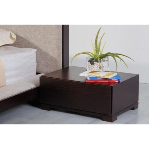 Curve Nightstand - 1 Drawer, Wenge | DCG Stores