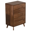 Nova Domus Soria Modern Chest - 5 Drawers, Walnut - VIG-VGMABR-32-CHST