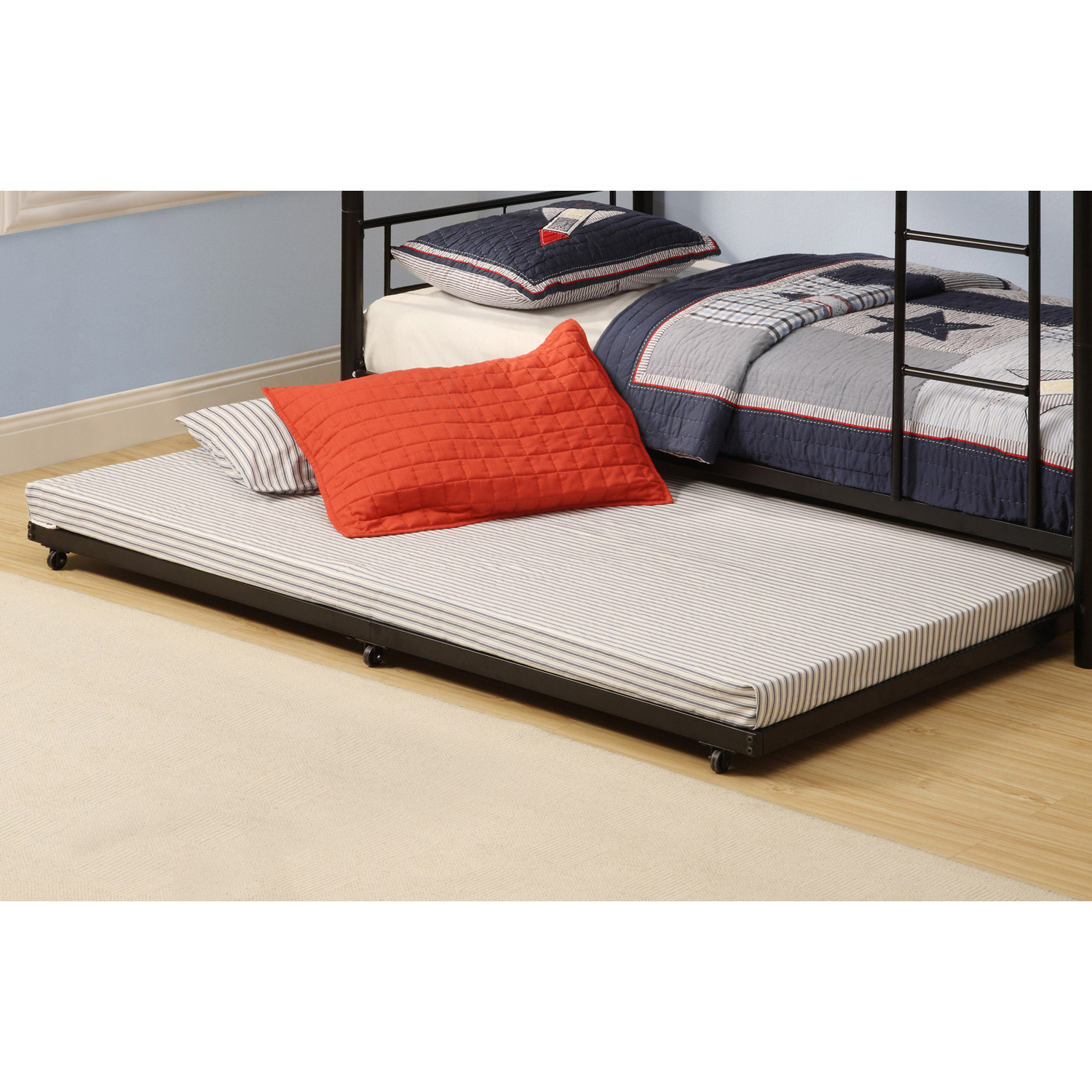 roll out bed roll out trundle bed frame black dcg stores 11163