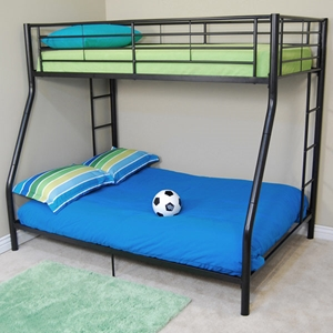 Bunk Bed - Sunset Twin / Double Size Bunk Bed in Black