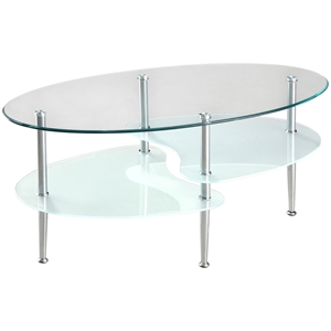 "38%27%27 Wave Dual Oval Coffee Table Walker Edison 38"" Wave Dual Oval Coffee Table C38B4"