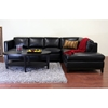 Rohn Black Leather Sectional with Chaise - WI-3166-SF-CH