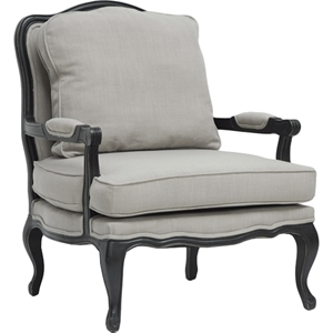 Antoinette Classic Antiqued French Accent Chair - Beige