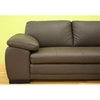 Diana Brown Leather Sectional with Chaise - WI-625-M9805-X