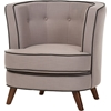 Albany Upholstered Accent Chair - Button Tufted, Beige - WI-805-BEIGE