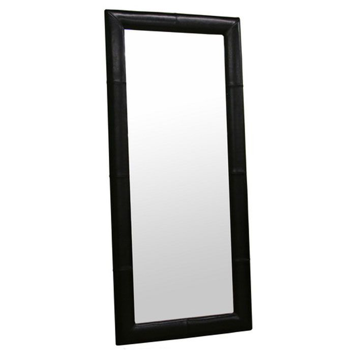 Lilith Floor Mirror with Leather Frame