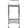 Contino Metal Tempered Glass Serving Trolley - Chrome - WI-AKING-59999