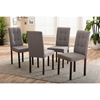 Andrew 5-Piece Upholstered Grid-Tufting Dining Set - Gray Fabric - WI-ANDREW-5PC-GRAY-9-GRIDS-DINING-SET