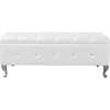 Brighton Bedroom Bench - Button Tufted, White - WI-BBT5169-WHITE-BENCH