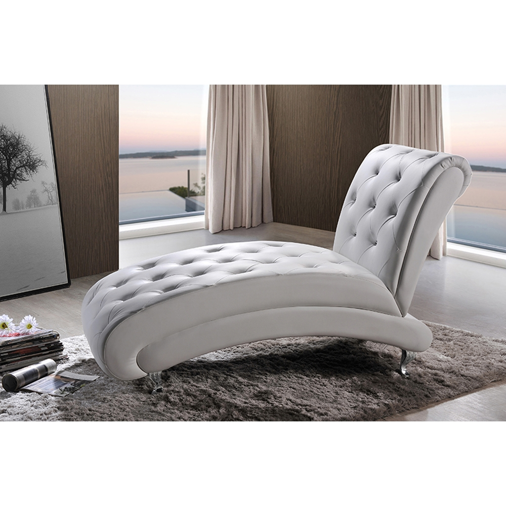 Pease Faux Leather Chaise Lounge