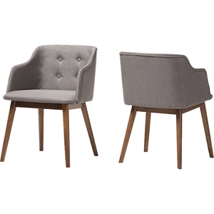Harrison Accent Chair - Button Tufted, Gray (Set of 2)