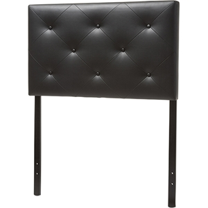 Baltimore Faux Leather Twin Headboard - Black