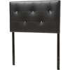 Kirchem Faux Leather Twin Headboard - Black - WI-BBT6432-BLACK-TWIN-HB