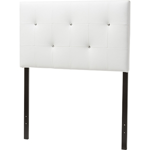 Kirchem Faux Leather Twin Headboard - White