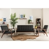 Nikko Faux Leather Loveseat - Black - WI-BBT8011A2-BLACK-LOVESEAT