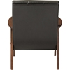 Nikko Faux Leather Lounge Chair - Black - WI-BBT8011A2-BLACK-CHAIR