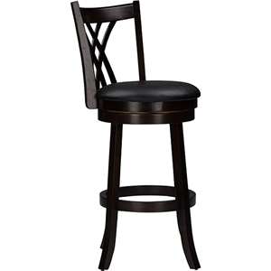 "Bloomfield 29"" Swivel Bar Stool - Dark Brown (Set of 2)"