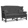 Wonderful Sussex High Wingback Sofa & Loveseat - Nail Heads, Dark Gray | DCG  HU66